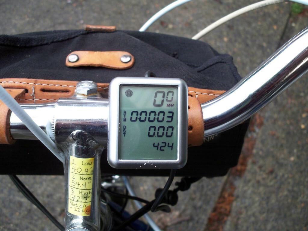 Nowoczesny licznik rowerowy.